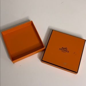 Authentic Hermès Skinny Orange Bracelet Box